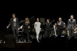 Con Alessandro Preziosi, Fabrizio Bosso e Rosario Giuliani