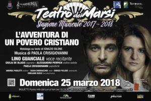 L'avventura di un povero cristiano con Lino Guanciale-Teatro dei Marsi